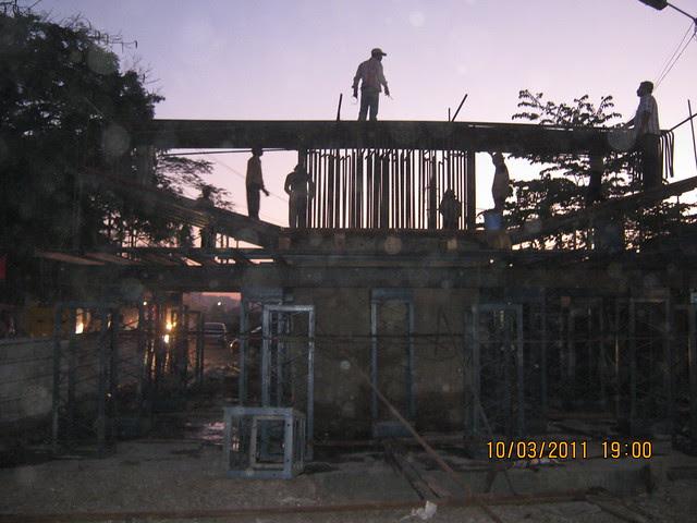 Under-construction Flyover at Dhayari Phata on Sinhagad Road, Pune