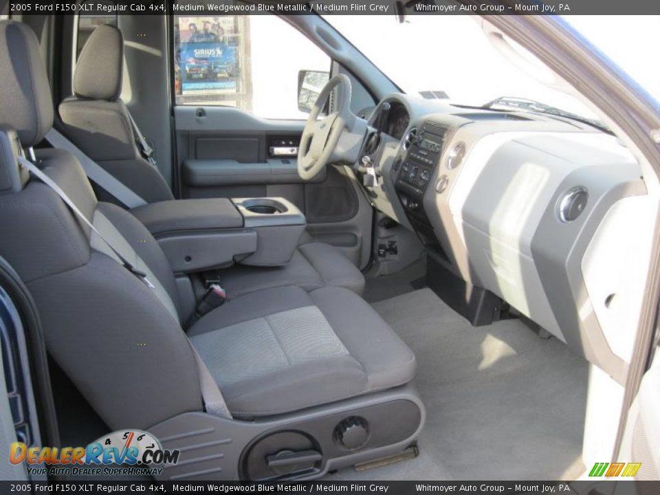 Medium Flint Grey Interior 2005 Ford F150 Xlt Regular Cab