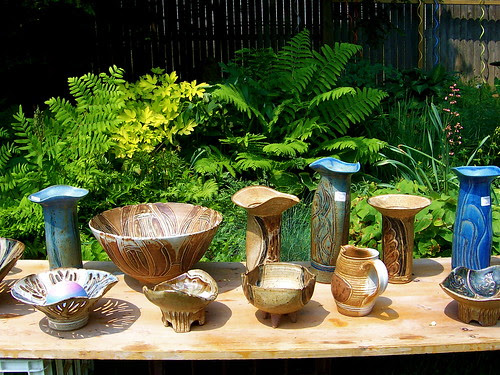 Pottery amidst the ferns