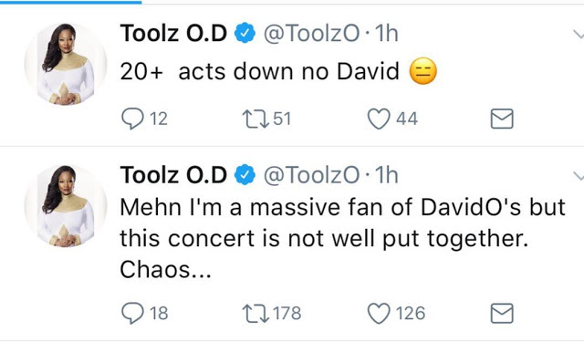 POPULAR OAP TOOLZ CRITICISES DAVIDO'S 30 BILLION CONCERT