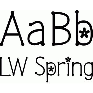 LW Spring font Design ID #58691