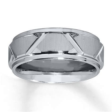 Triton Wedding Band Gray Tungsten Carbide 8mm