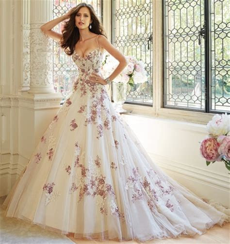 Online Get Cheap Purple White Wedding Dress  Aliexpress