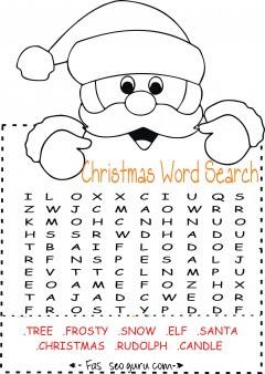 Printables easy christmas word search for kids - Printable ...