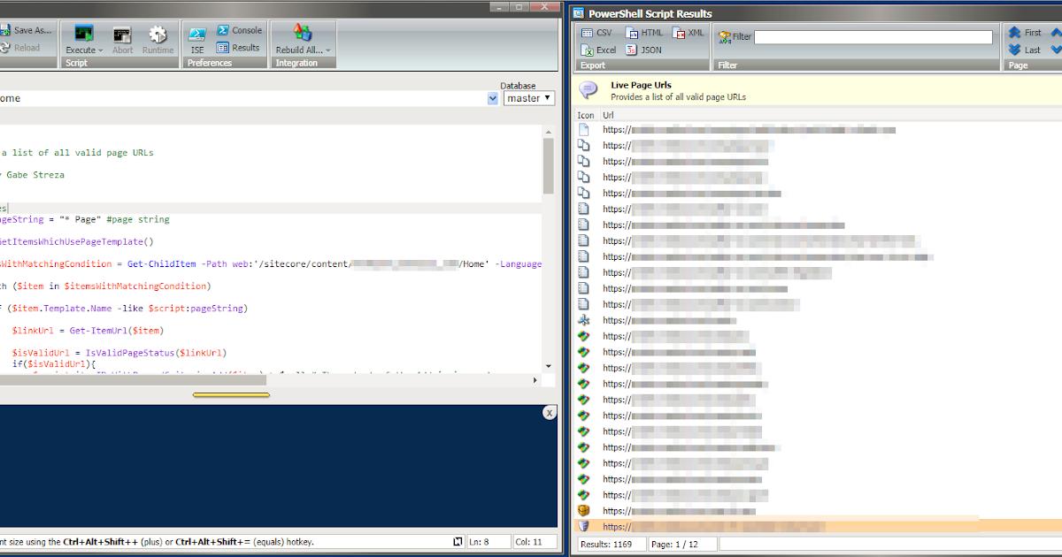 Sitecore powershell valid page urls report sitecore gabe maxwellsz