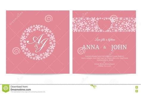 Wedding Card   Name Text In Flower Circle Frame And Heart