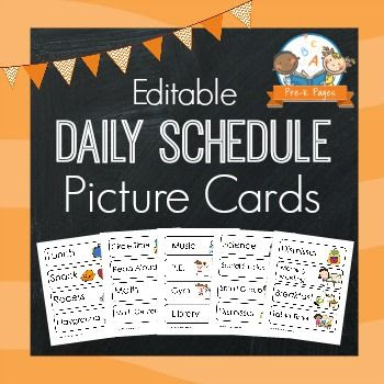 Picture Schedule Cards – Blue | Language, Texts and Teaching