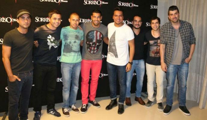 André Santos curtiu show do Sorriso Maroto em SC (Foto: Divulgação)