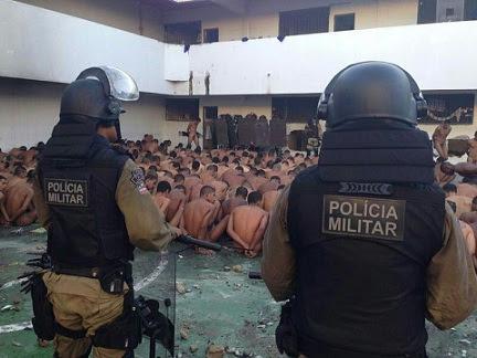 Policiais conseguiram controlar a situação no final da tarde