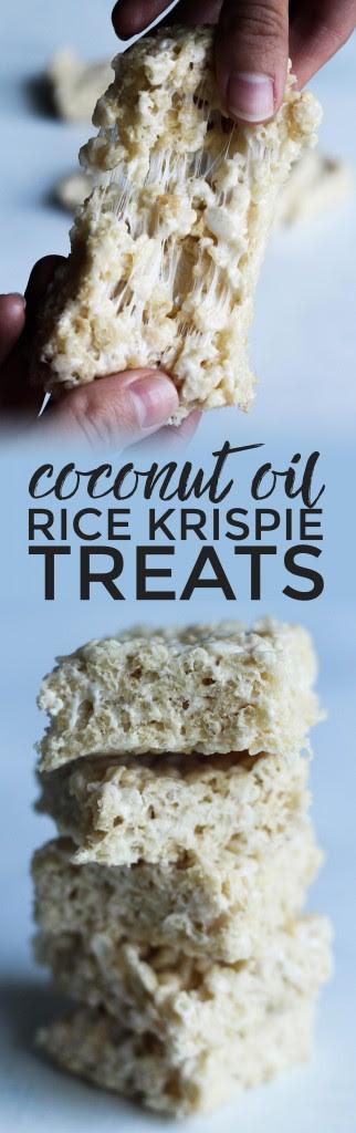 Coconut Oil Rice Krispie Treats | the blissful balance
