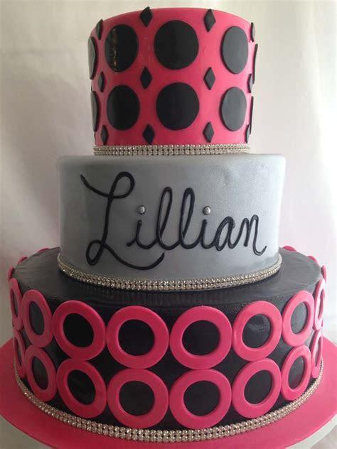 Pink Black Silver Cake Granada Hills Los Angeles A Sweet