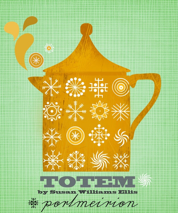 Portmeirion Totem-illustration print limited edition