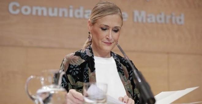 La presidenta de la Comunidad de Madrid, Cristina Cifuentes. Europa Press