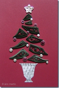 quilled xmas tree