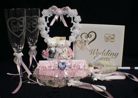 Hello Kitty and Daniel wedding Cake topper Gift LOT