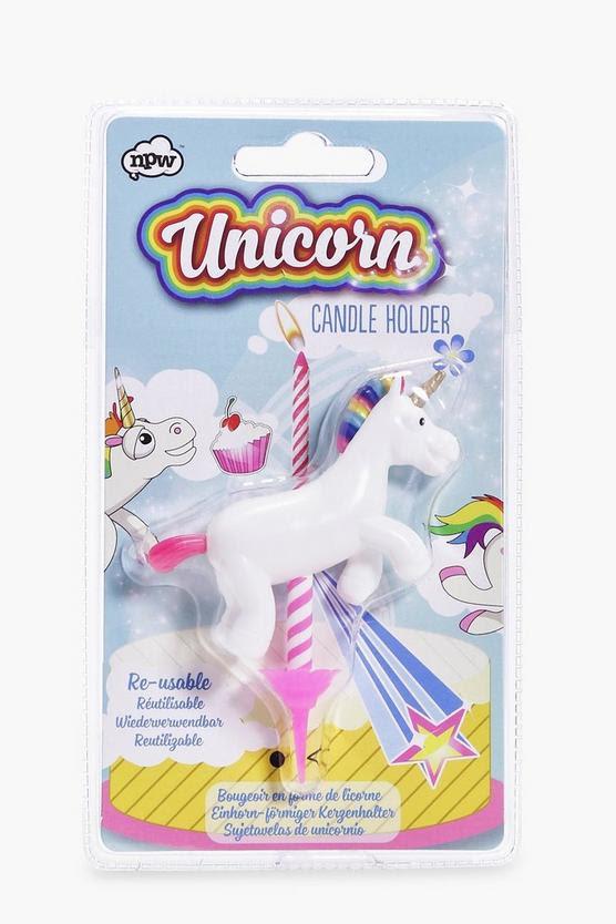Unicorn Birthday Candle Holder | Boohoo