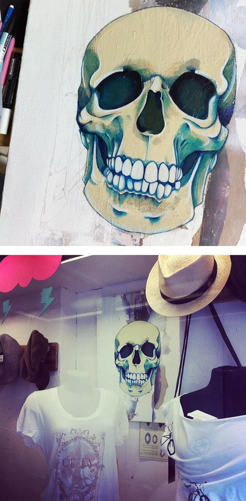 Crâne bleu #3 © Emilie Vasset
