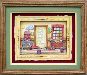 Oak Shadow Box Frame 750 Wheat Size 10x12 For 8x10 Picture 8 1340