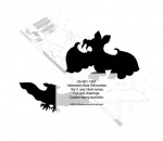 Bat Silhouette Yard Art Woodworking Pattern - fee plans from WoodworkersWorkshop® Online Store - bats,batty,silhouettes,Halloween,yard art,painting wood crafts,scrollsawing patterns,drawings,plywood,plywoodworking plans,woodworkers projects,workshop blueprints