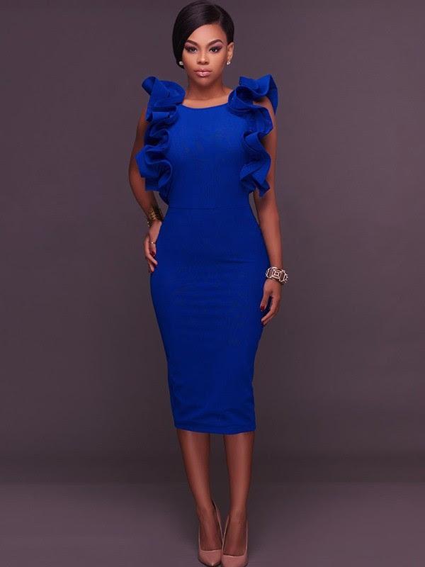 Size conversion royal blue midi bodycon dress king street charleston