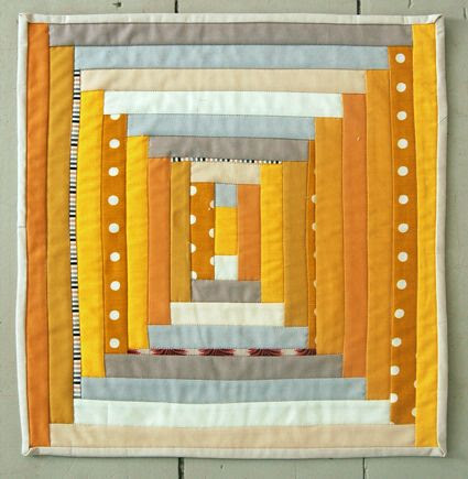 courthouse steps tutorial by purl bee quilt yellow gold