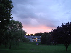 Sunset over the condos