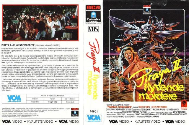 Piranha 2 (VHS Box Art)