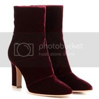 Gianvito Rossi Ankle Boots aus Samt