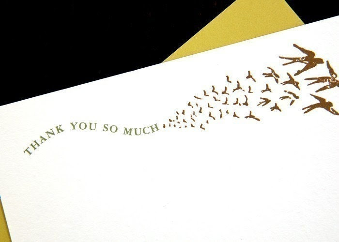 Set of 6 Swallows Note Card Set