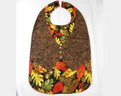 Adult Bib, Clothes Protector, One of a kind,Bib 43 - RonsRelaxation