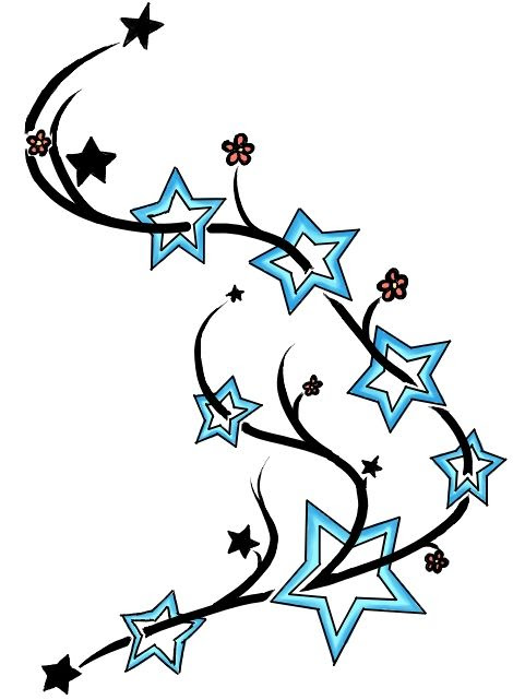 Star Flower Tattoo Designs Clipartsco