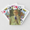 Konstantin Somov- Portrait of the composer Sergei Playing Cards