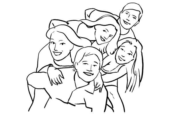 Позирование: позы для групповых портретов 8