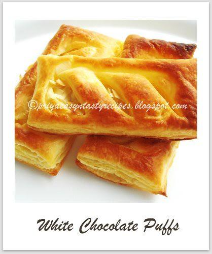 White chocolate puffs