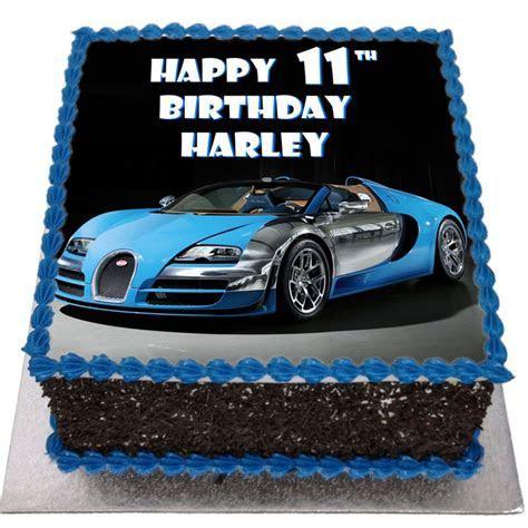 Bugatti Veyron Birthday Cake   Flecks Cakes