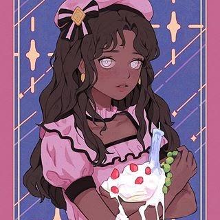 Anime Kawaii Black Girl Aesthetic - Anime Wallpaper HD