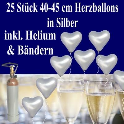 Silberhochzeit dekoration am haus deneme ama l - Deko zur silberhochzeit ...