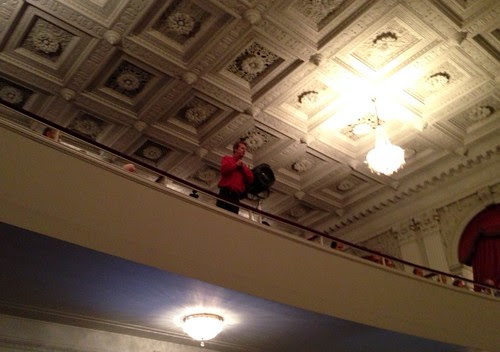 The Ceremonial's photographer, speaking from the balcony