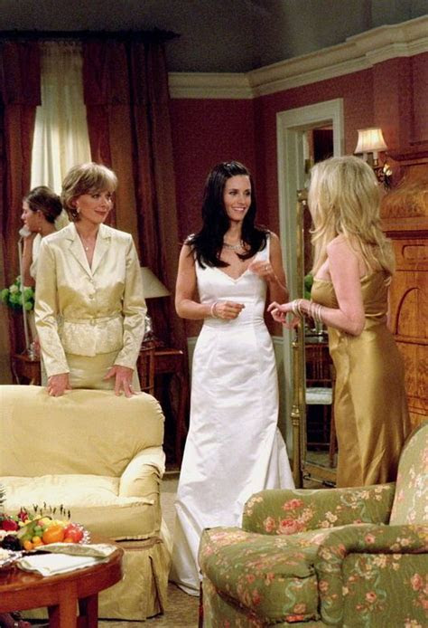Friends: Monica's wedding day. I loved the dress she