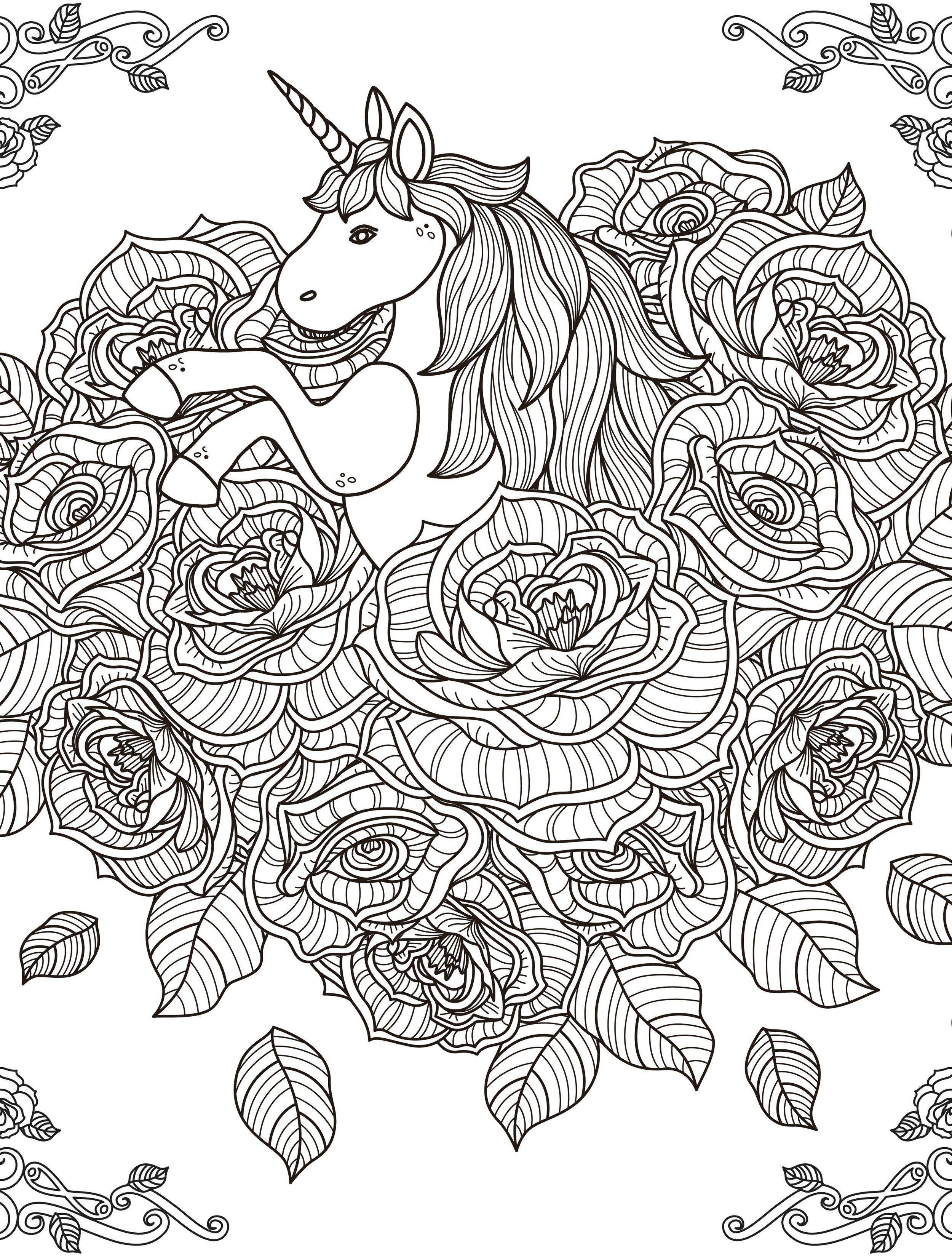 Mandalas De Unicornios Para Colorear Unicornios Para Colorear