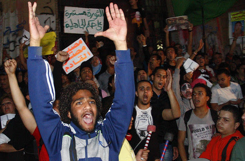 Egyptian youth took to the streets on April 6, 2013 to protest against the government of President Mohamed Morsi. The date represented the fifth anniversary of the April 6 Movement. by Pan-African News Wire File Photos
