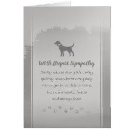 Deepest Sympathy Sadly Missed Dog Sympathy Card