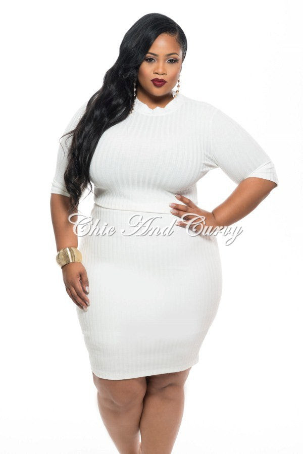 final sale plus size 2 piece crop top with back cutout and