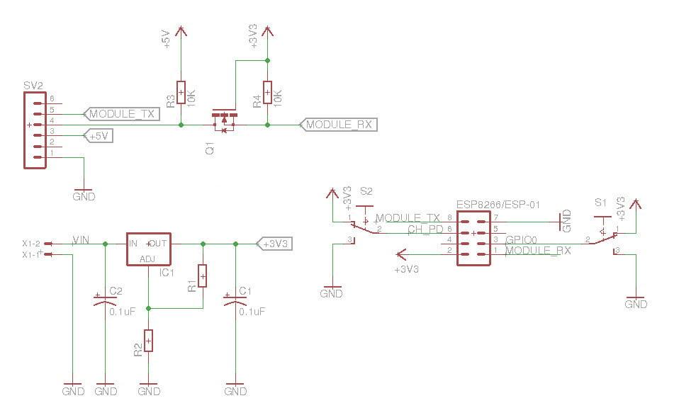 ESP8266 BreakOut Board Diagram
