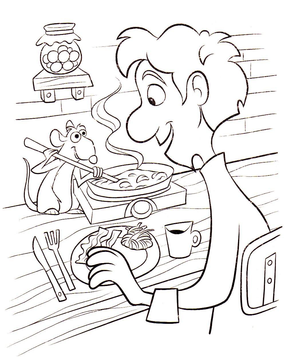Coloriage A Imprimer Ratatouille Remy Et Linguini Gratuit Et Colorier