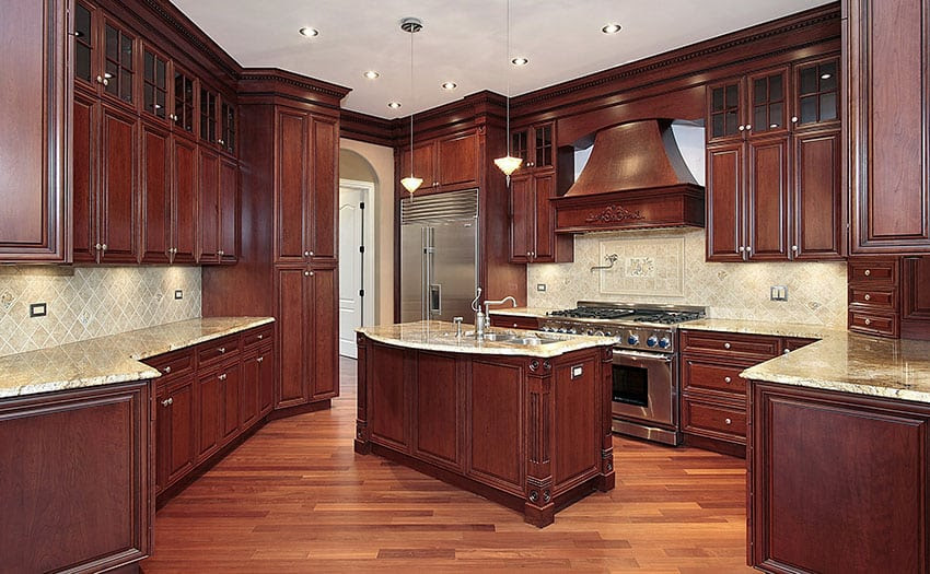 29 Custom Solid Wood Kitchen Cabinets - Designing Idea