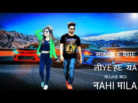 Single Mera liye Hai Ya Tujhe Koi ni Mila | Photo Editing| Picsart Single Girl 2018 Manipulation