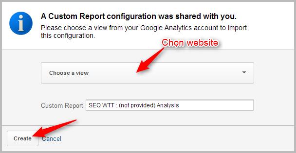 Cách xem dữ liệu (not provided) trong Google Analytics
