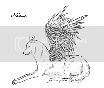 Angel Winged Wolf Coloring Pages Coloring Pages