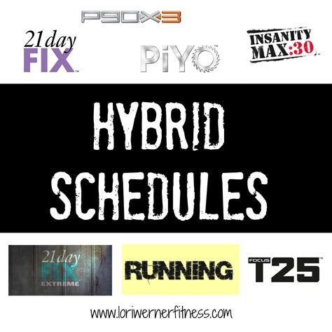 beachbody hybrid workout schedules   change